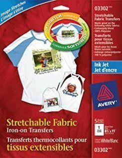 Avery Stretchable T Shirt Transfers for Inkjet