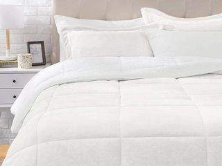 Ultra Soft Micromink Sherpa Comforter Bed Set