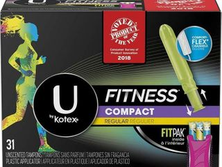 U by Kotex Fitness Tampons with FITPAK  Regular