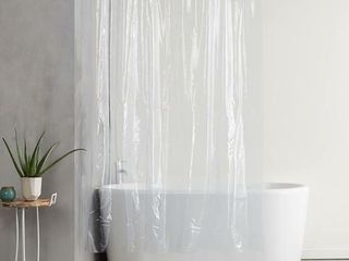 Heavyweight Vinyl Shower Curtain liner with Hooks