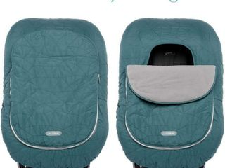 JJ Cole Baby Car Seat Cover  Teal Fractal