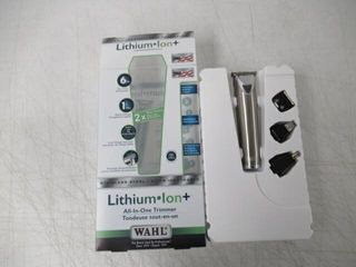 As Is  Wahl Canada lithium Ion Trimmer  Stainless