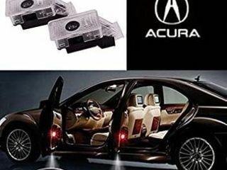 2 Pc Car lED Acura Welcome light Emblem Door with