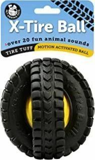 Pet Qwerks Animal Sounds X Tire Ball Dog Toy