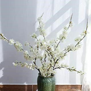 YUYAO Artificial Cherry Blossom Flowers  4pcs