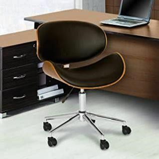 Armen living Daphne Office Chair in Black Faux