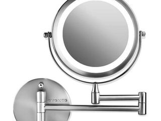 Ovente lED Wall Mounted Makeup Mirror  7  1X 10X
