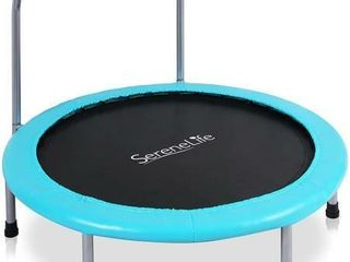 Serenelife Portable Foldable Trampoline   36  Dia