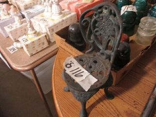 Cast Iron Doll Chair