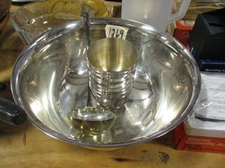 Silver Punch Bowl Set