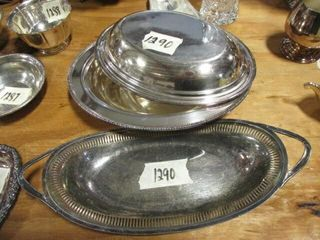 Silver Tray   Covered Pan