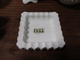 Milk Glass Ash Tray