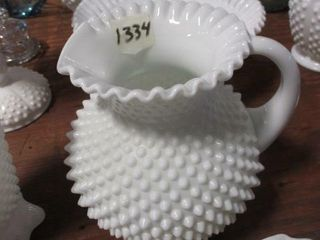 Fenton Milk Glass Pitcher