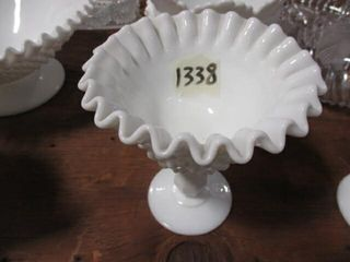 Fenton Milk Glass Compote