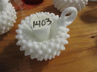 Fention Milk Glass Candle Holder