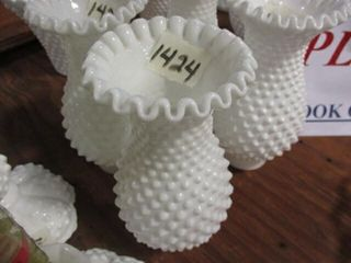 Fenton Milk Glass Oil lamp Chimneys
