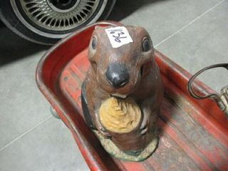 Beaver Yard Ornament