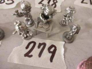 5 Pc Pewter Children