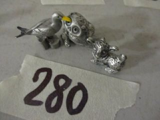 3 pc Pewter Animals