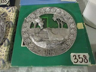 1983 Pewter Mother s Day Plate