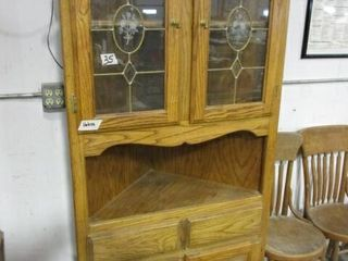 Oak Corner China Hutch