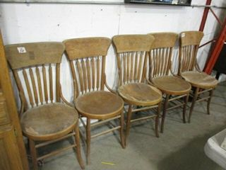 5  Wood Chairs