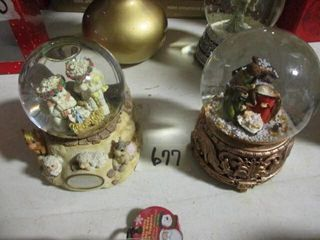 2  Snow Globe Music Box