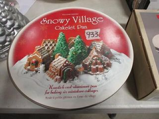 Snowy Village Cakelet Pan