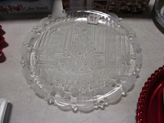 Glass Christmas Tray