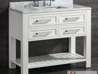 Ove Decors Pedro 42 in  White Vanity with Carrara