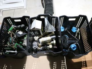 3 BASKETS OF BOlTS PARTS ETC