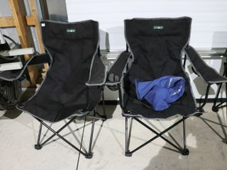 2 ESCORT FOlDING lAWN CHAIRS