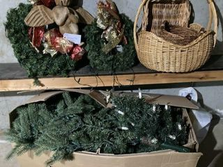 Christmas tree  wreaths and baskets