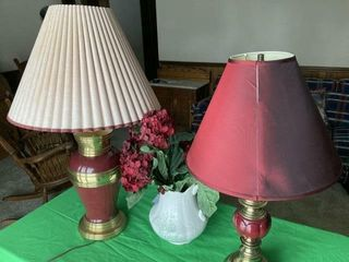 lamps and Vase