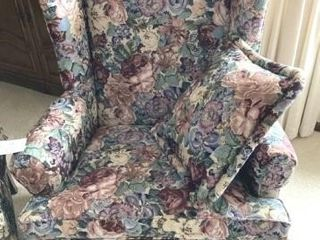 Flora designed wing back chairs
