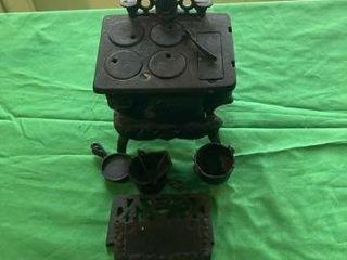 Miniature cast iron wood stove