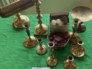 Brass lamp  Candle Stick Holders  etc