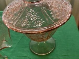 Pink glass 4 pieces