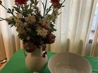 large White Vase and Bowl