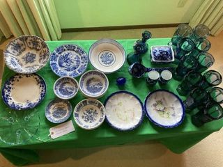 Assorted Plates  bowls  and glasses