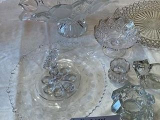 Glassware plates  cup  9 pieces