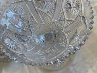 4  Glass pieces Vase Bowl  Tray  Covered Dish