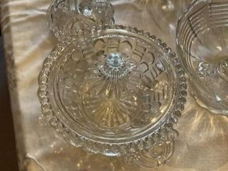 5  Piece Glass Bowl  Apothecary  Cruet