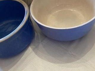 Stoneware Bowls  wood utensils