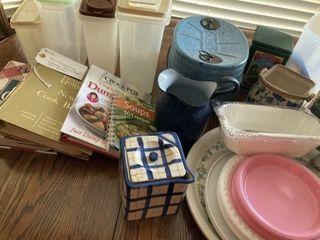 Kitchenware  cookbooks  enamel Pitcher  Stein