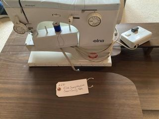 Elna Sewing Machine and book w sewing table