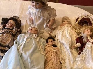 6 Dolls one marked Nippon