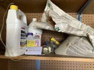 Assorted lawn feed  sprays  weed killer