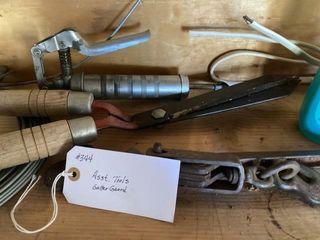 Assorted tools  gutter guard propane torch