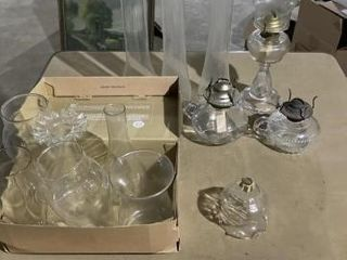 Kerosene lamps and misc globes